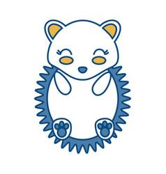 Kawaii porcupine icon vector