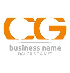 Letter c g alphabet element icon vector