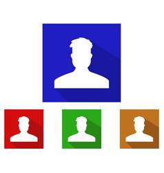 man profile icon vector image