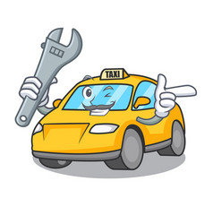 Mechanic taxi character mascot style vector