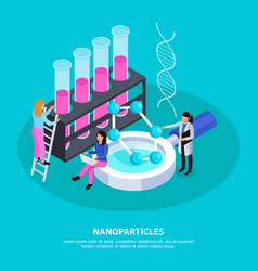 Nano particles isometric background vector