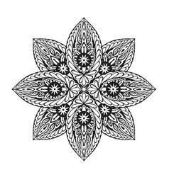 Ornament ethnic mandala vector image