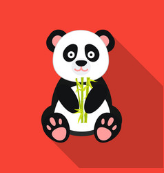 panda icon in flat style isolated on white vector image