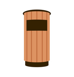 park trash flat style vector image
