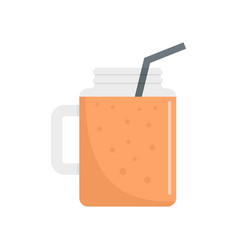 peach smoothie icon flat style vector image