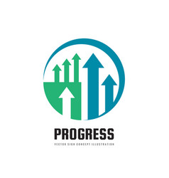 progress - business logo template concept vector image