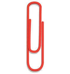 Red paper clip vector