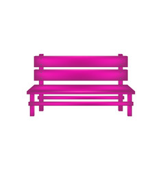rural bench in pink design vector image