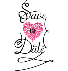save the date vector image