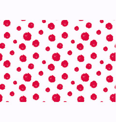 seamless polka dot pattern hand painted grunge vector image