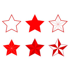 set of different five-pointed stars vector image