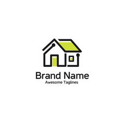 smart home logo vector image