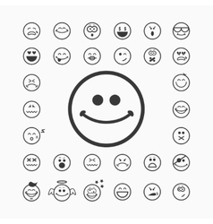 Smiley faces icons vector image