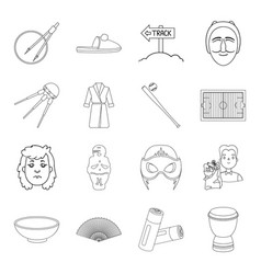 Spain food charity and other web icon in outline vector