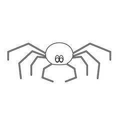 spider the black color icon vector image