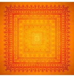 Square orient ornament background vector image