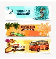 Surf Banner Set vector