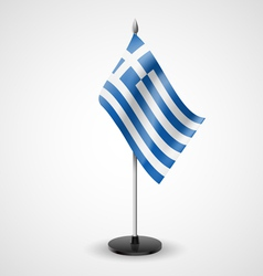 Table flag of Greece vector