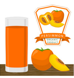 The theme persimmon vector