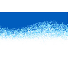 Winter blue ice frost background vector