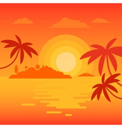Beach sunset 2 vector image vector image