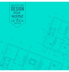 Blueprint of house project vector image