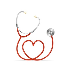Red Stethoscope vector image