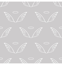 Angel wings gray sketch pattern vector