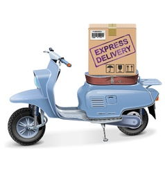 Delivery Scooter vector image vector image