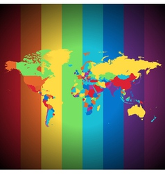 Multicolored World map vector image vector image