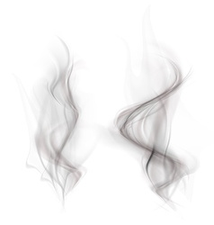 Set of black smoke isolated on a white background vector