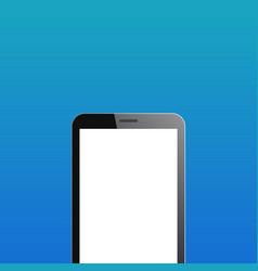 smartphone copyspace on blue background vector image