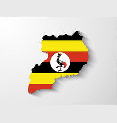 Uganda map with shadow effect vector image