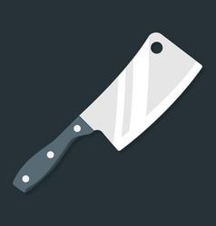 butcher knife kitchen knife and meat knife vector image vector image