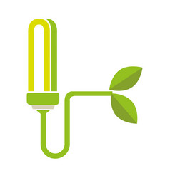 colorful moder light bulb connected to plant vector image