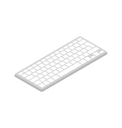 computer keyboard isometric 3d icon vector image