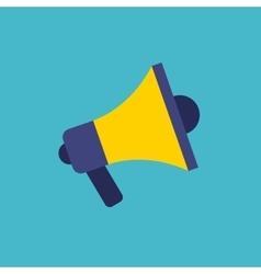 megaphone flat isolated icon vector image vector image