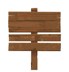 old weathered wooden sign isolated vector image