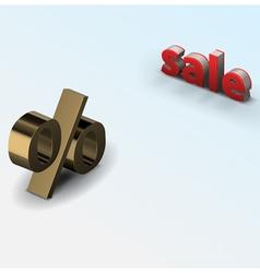 sale percent vector image vector image