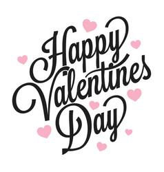 valentines day vintage logo on white background vector image vector image