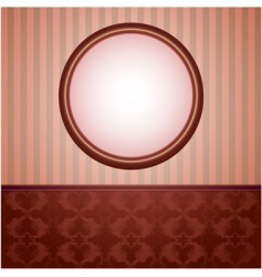 wallpapers and round frame vector image