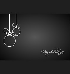 christmas greeting card with simple balls vector image vector image