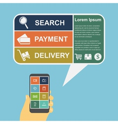 e commerce infographic vector image vector image