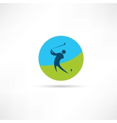 golf abstraction icon vector image vector image