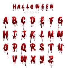 halloween bloody alphabet i vector image