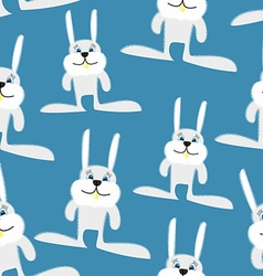 Hares and rabbits seamless pattern background of vector image vector image