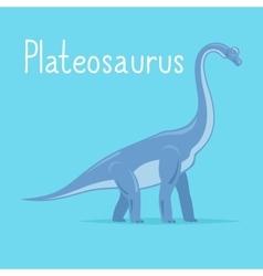 Plateosaurus dinosaur card vector image