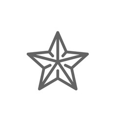 simple starfish line icon symbol and sign vector image
