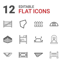 12 country icons vector image