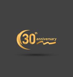 30 years anniversary logotype with double swoosh vector